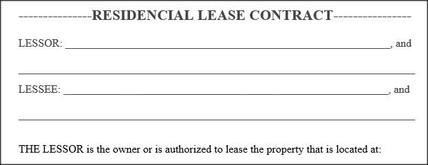 Contrato De Arrendamiento Residencial Ingl S