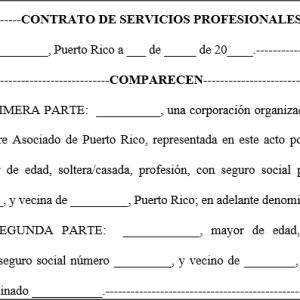 Contrato de servicios profesionales contratista for Modelo contrato empleada de hogar 2015