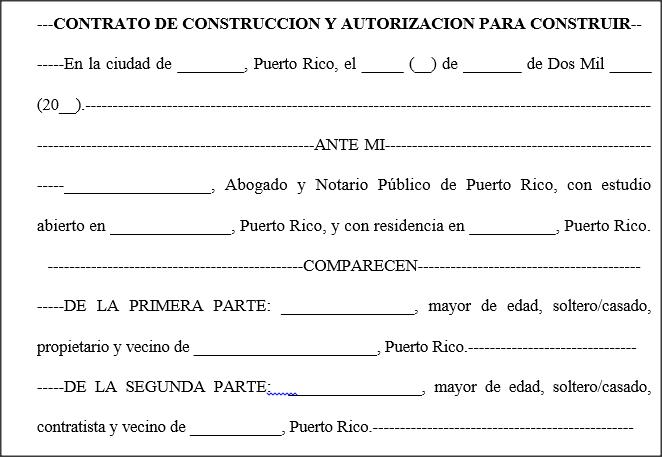 Contrato de construcci n modelos for Modelo contrato de trabajo servicio domestico 2015