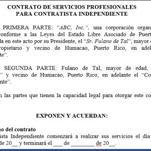 Contrato de servicios profesionales contratista independiente - Que es un contratista ...